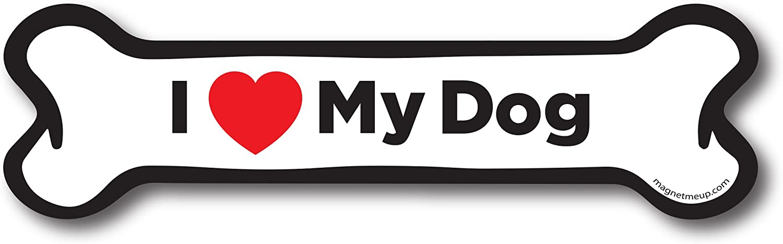 I Love My Husky Dog Bone Magnet 2x7 inch Decal Perfect for Car Truck or Fridge