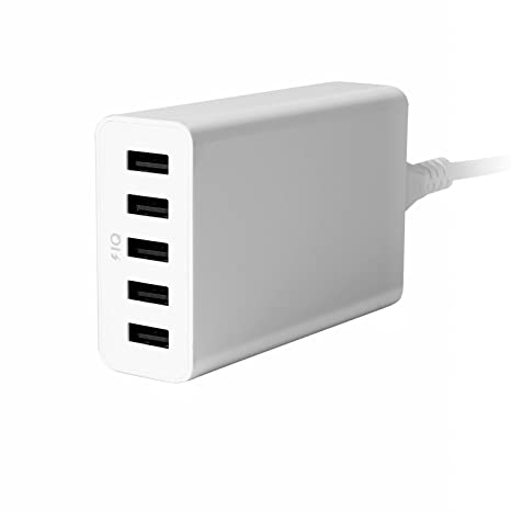 Cargador Inteligente USB de Sobremesa Yokkao® [5 Puertos, 40W, 8A] Cargador USB IQ SMART CHARGER compatible con iPhone 6s/6s Plus / Samsung Galaxy y ...