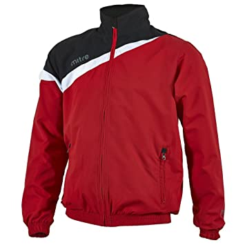 Mitre Polarize Chaqueta de chándal Impermeable, para Practicar fútbol, Hombre, Color Rojo/Negro/Blanco, tamaño Extra Small: Amazon.es: Deportes y aire libre