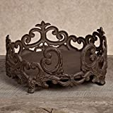 Gracious Goods 11in Dinner Plate Holder - Brown Metal