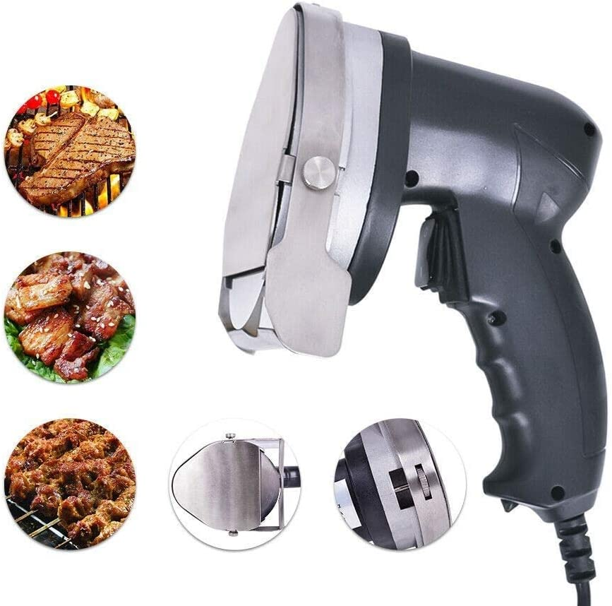 Electric Gyro Doner Kebab Slicer Machine 80W Shawarma Doner Kebab Knife