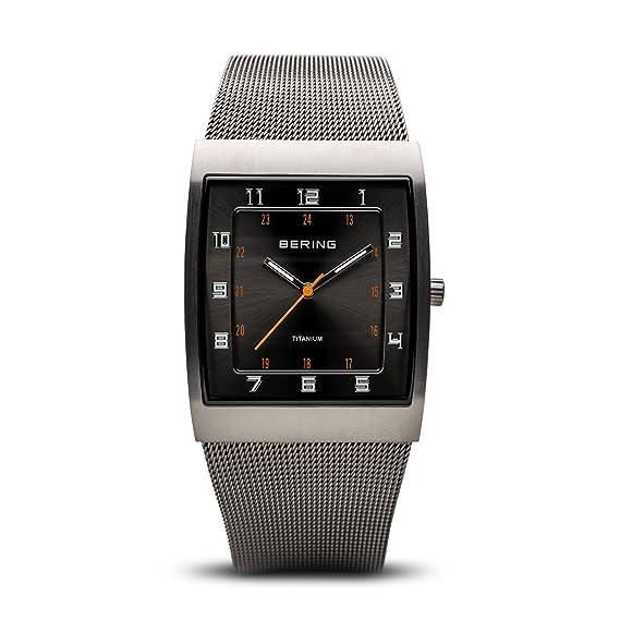 Bering Classic - Reloj analógico de mujer de cuarzo con correa de acero inoxidable gris - sumergible a 50 metros: Amazon.es: Relojes