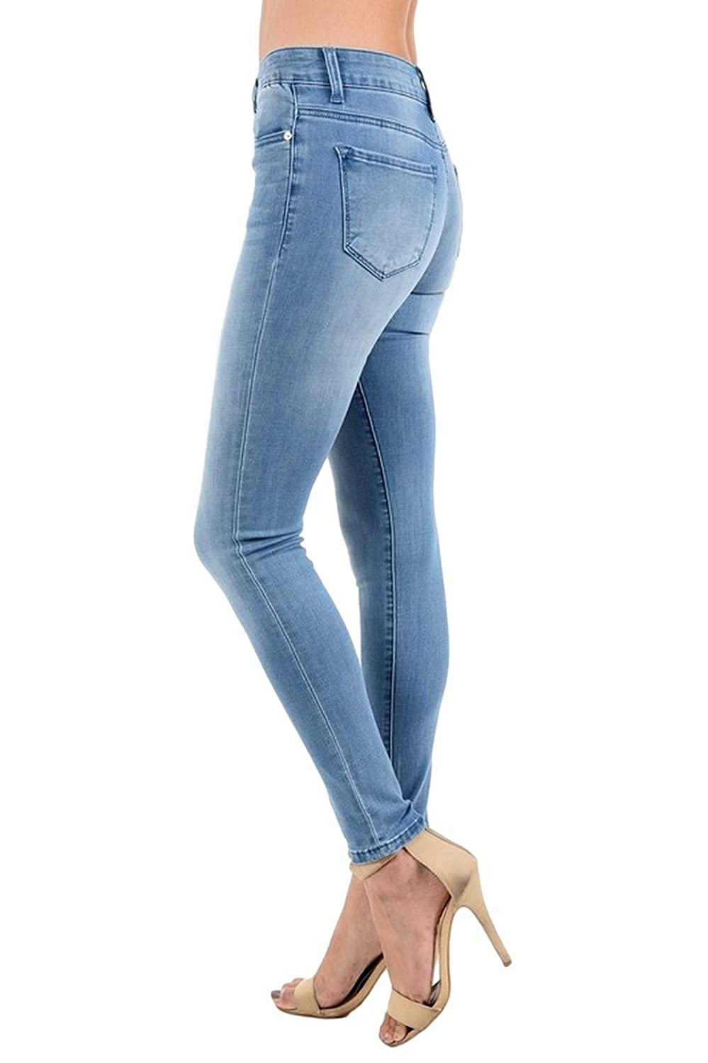 Kan Can Womens Mid Rise Skinny Jeans KC6067