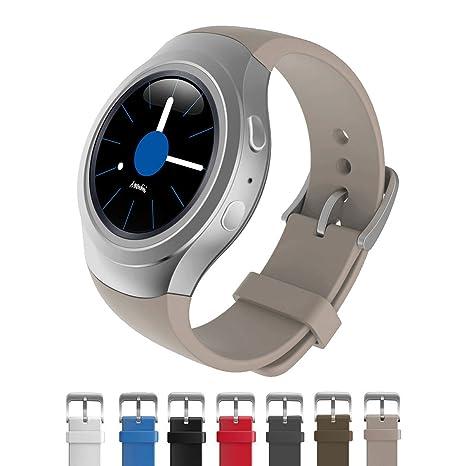 Dokpav® Banda Pulsera Correa de Reloj Inteligente Smartwatch Silicona Deportiva para Samsung Gear S2 - color caqui