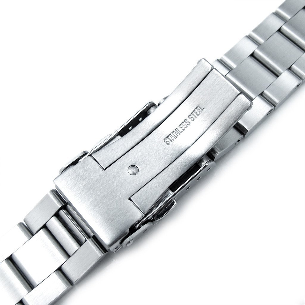 22mm Super Oyster Brushed & Polished 316L SS Watch Band for Seiko SKX007 SKX009 SKX011 by Seiko Replacement by MiLTAT (Image #5)