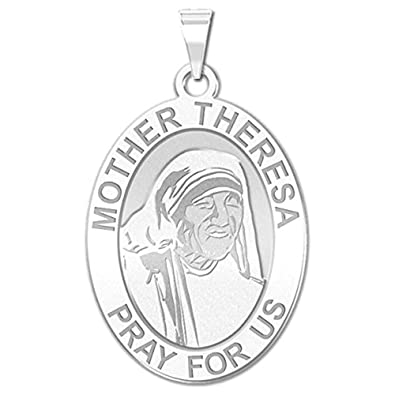amazon picturesongold mother theresa oval religious medal 3 X 2 Size Oval picturesongold mother theresa oval religious medal 2 3 x 3