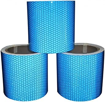 HI VIZ INTENSITY GRADE BLUE REFLECTIVE TAPE 100MM X 5M