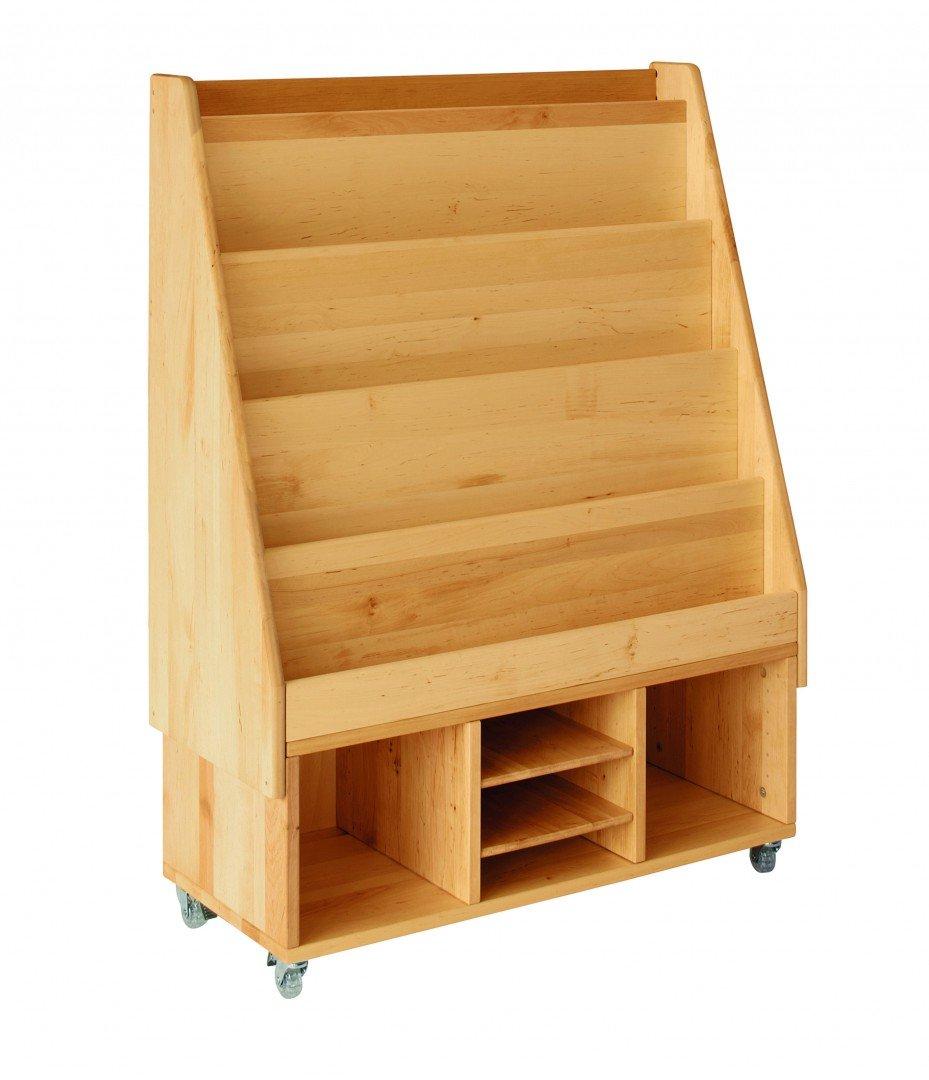 BioKinder 23664 Spar-Set Robin Rollregal mit 3 Fächern, Bücherregalaufsatz und 2 Einlegeböden