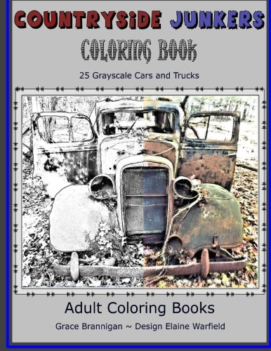 Countryside Junkers Coloring Book Grayscale