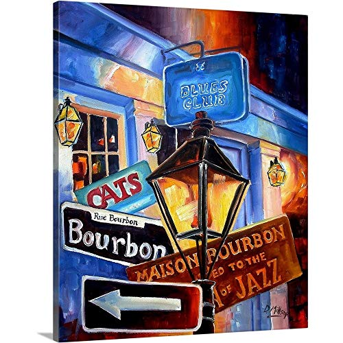 Diane Millsap Premium Thick-Wrap Canvas Wall Art Print Entitled Signs of Bourbon Street ()