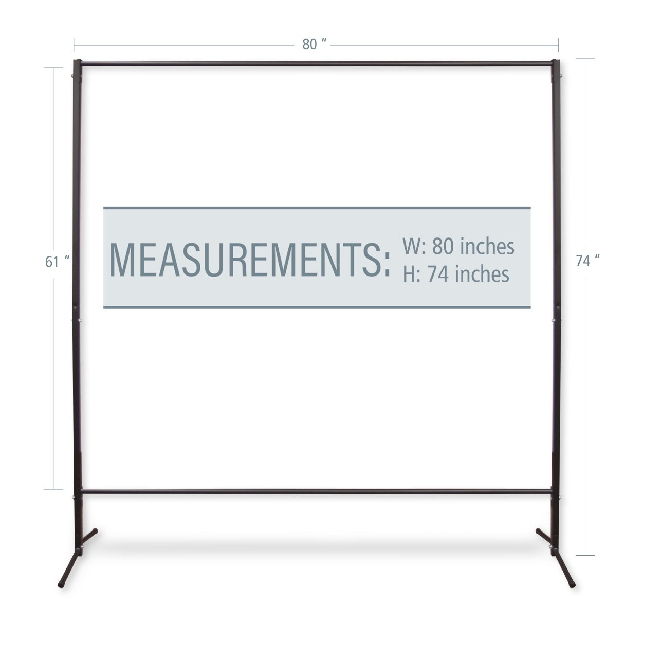 A&F Rod Décor - Multi-Purpose Portable Rod Stand/Office Partitions/Portable Wall/Space Divider/Free Standing Room Divider 74'' tall, 80'' wide (1 piece)