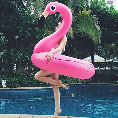 IDEAS Pool float,Pink Flamingo, Inflatable Summer Toy, Pool Party Toy with Rapid (Halloween Playlist Ideas)