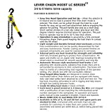 All-Material-Handling-LC008-10-Badger-Lever-Chain-Hoist-34-075-Ton-10-Lift