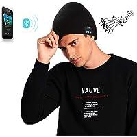 VANGOLD Berretto Invernale Bluetooth, Stereo Cuffie Vivavoce Microfono con Batteria Integrata Berretto Compatibile con Smartphone, iPad, iPhone,Tablet.