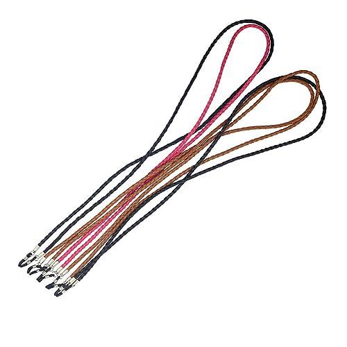 Gazechimp 5x Cordón Trenzado de PU Cuero Correa para Gafas