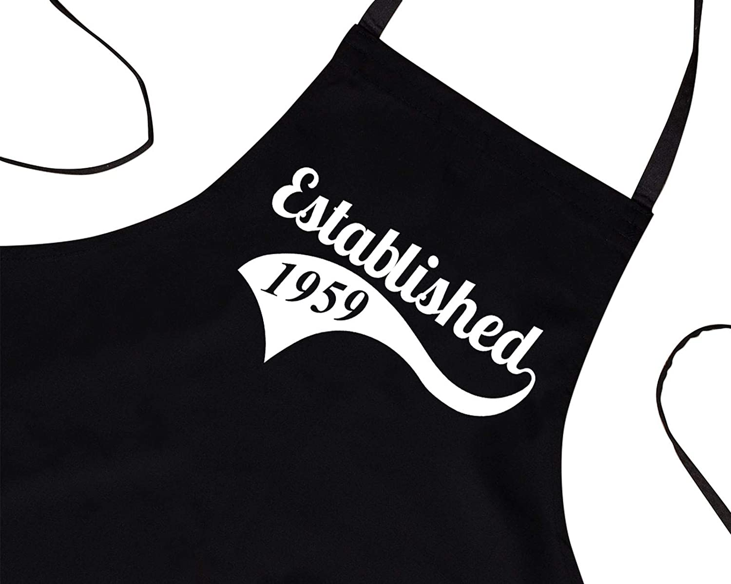 60th Birthday Gifts for Men Him Dad Husband BBQ Cooking Apron Established 1959