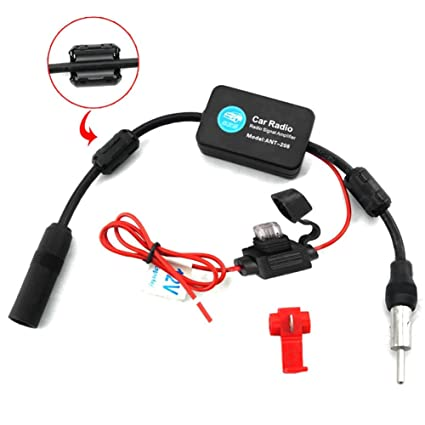 Amplificador de señal coche AM/FM antenas de radio amplificador de radio exterior partes