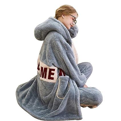 Pijamas, Terciopelo de Coral de Invierno para Mujer, Ropa ...