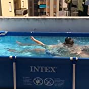 Intex 28273NP Small Frame - Piscina desmontable tubular, 450 x 220 ...