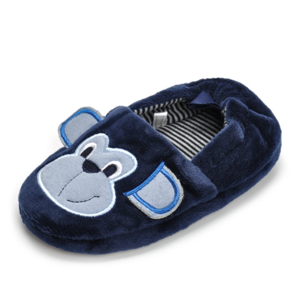Butterflykisses Toddler Boy's Moneky Winter Home Slippers