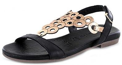 Tamaris Damen Sandaletten Schwarz/Rotgold Kaufen Online-Shop