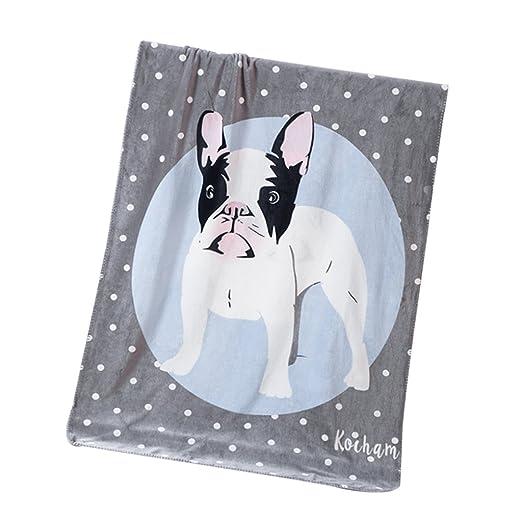 non-brand Sharplace 1 Pedazo de Manta de Tiro de Dibujos Animados Fácil de Limpiar Accesorio de DIY - Perro, 100x140cm: Amazon.es: Hogar