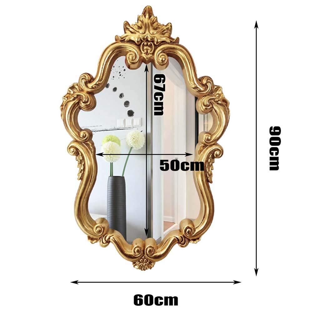 Miroir Suspendu am/éricain r/étro Miroir europ/éen Moderne Cadre en polyur/éthane /à l/épreuve de leau et de lhumidit/é -90 * 60 Miroir Suspendu pour Salle de Bain Giow Miroir de Salle de Bain