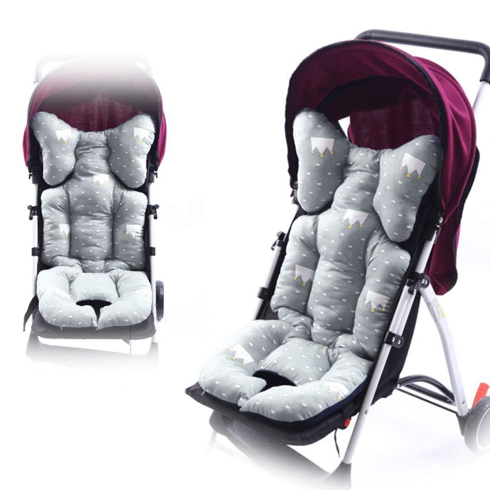 Grau Godagoda Universal Kinderwagen Sitzauflage Wolke Stern Muster Baumwolle Wasserdichte Atmungsaktiv Sitzeinlage f/ür Baby Kinderwagen Buggy 35x80cm