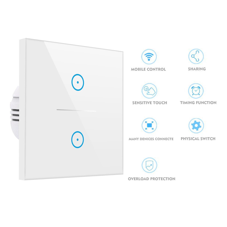 Smart Alexa Lichtschalter, KOAANW Wlan Home Lichtschalter arbeitet ...