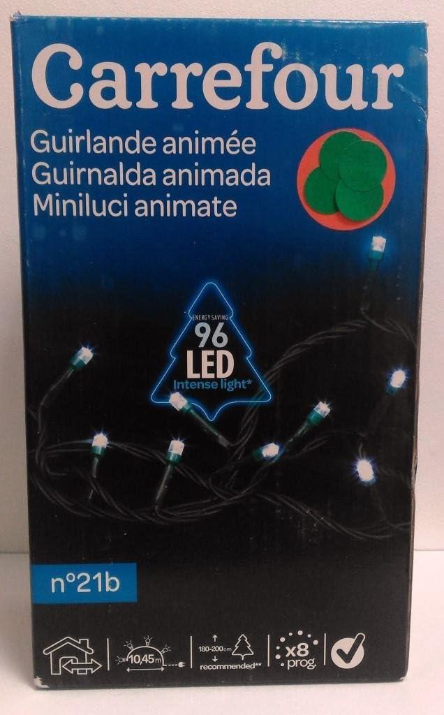 Guirnalda animada blanca 96 LED: Amazon.es: Iluminación
