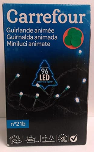 Guirnalda animado blanco 96LED