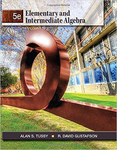 Elementary and Intermediate Algebra: Alan S. Tussy, R. David ...