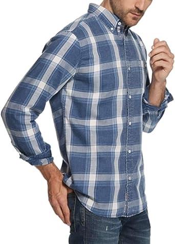 Weatherproof Men/'s  Shirt 2XL blue plaid button front long sleeve collar $79 mm