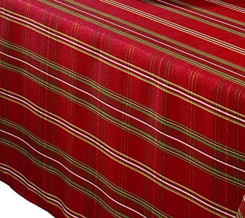 Benson Mills Christmasville Metallic Fabric Tablecloth