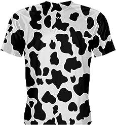 3af5c200fb LightningWear Cow Print Short Sleeve Shirt Athletic Tee - Halloween  Festival Cow Costume