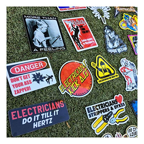 New Electrician (55+) Hard Hat Stickers Hardhat Decals, Lineman Reddy IBEW by Unknown (Image #4)