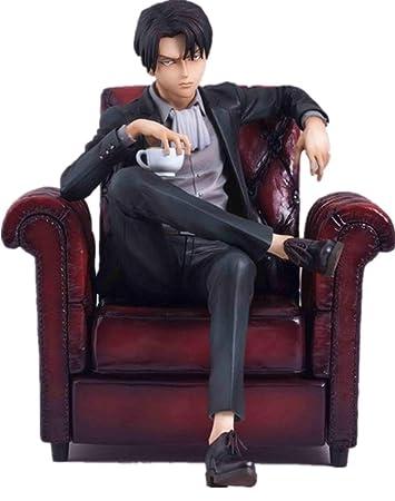 Amazon.com: Figura de acción de Levi Ackerman sentado en el ...