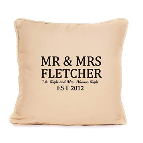 Amazon Personalised Cushion Pillow Cover Mr And Mrs Surname