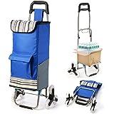 ショッピングカート 3輪付き 階段上がりやすい 静音 軽量 ポケット付き おりたたみ式  大容量