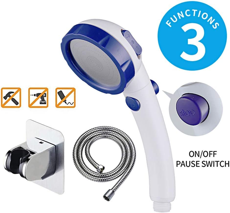 KAIYING Self Adhesive High Pressure Handheld Shower Head with ON//OFF Pause 3