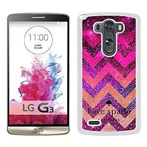 Unique Custom Designed Kate Spade Cover Case For LG G3 White Phone Case 91