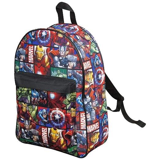 21d452fd9bb7 Marvel Avengers Official Backpack for Children Boys Girls Adults Comics  Back Pack Travel Rucksack Bag  Amazon.co.uk  Luggage