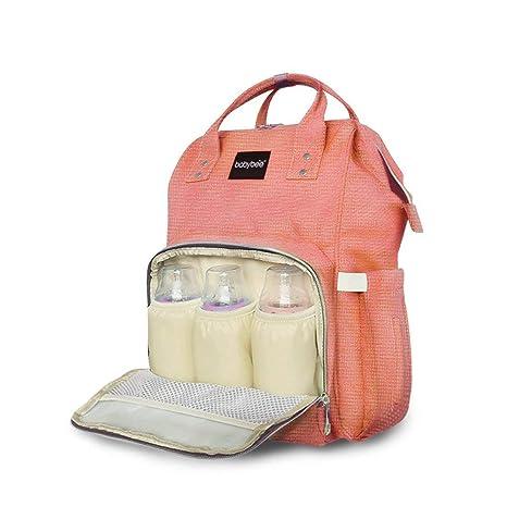 561e7815c7c Vezela Polyester Diaper Bag Maternity Travelling Backpack (Orange ...