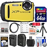Fujifilm FinePix XP90 Shock & Waterproof Wi-Fi Digital Camera (Yellow) with 64GB Card + Case + Battery & Charger + Flex Tripod + Strap + Kit Review Review Image