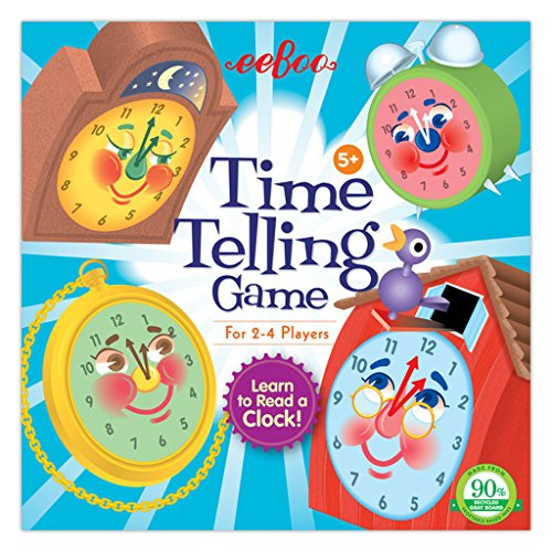 eeBoo Time Telling Clock Game for Kids