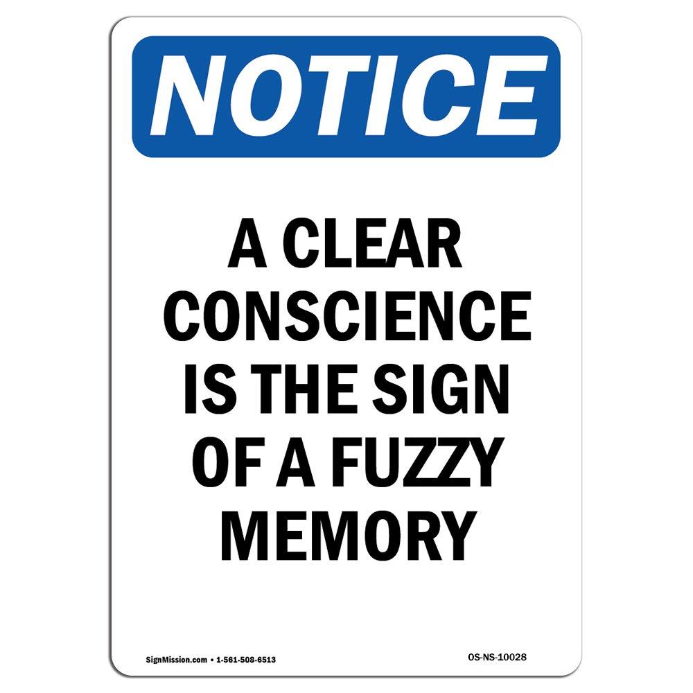 Letrero de advertencia de Osha: una conciencia clara es el ...