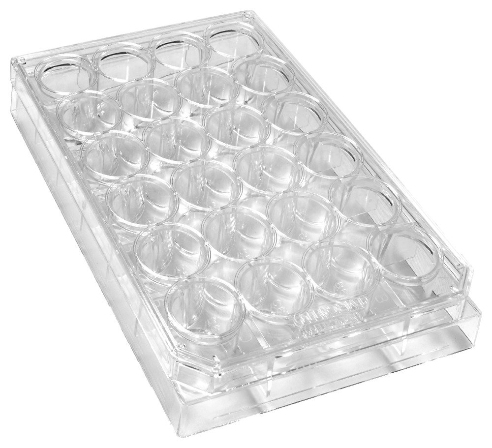 Caplugs Evergreen 222-8044-01F Sterile 24-Well Plates With Lids. Polystyrene, Natural, Individually Packed by Caplugs