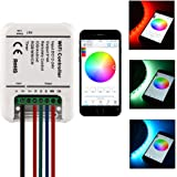 Sunix® RGB LED Smart WiFi Controller, 5 Channels (RGB + Warm White + Cool White) DC 12-24V - iOS or Android Smartphones control – ideal for 5050/3528 LED Strip Lights (Without Strip Lights)