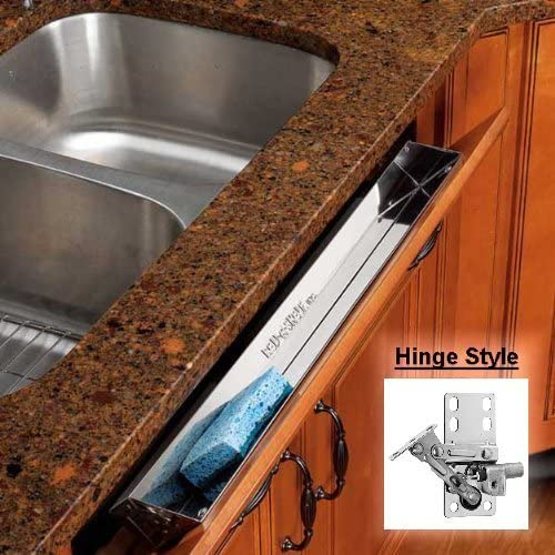Rev-A-Shelf Stainless Tip-Out Tray with Soft Close Hinges for Kitchen Cupboard 10