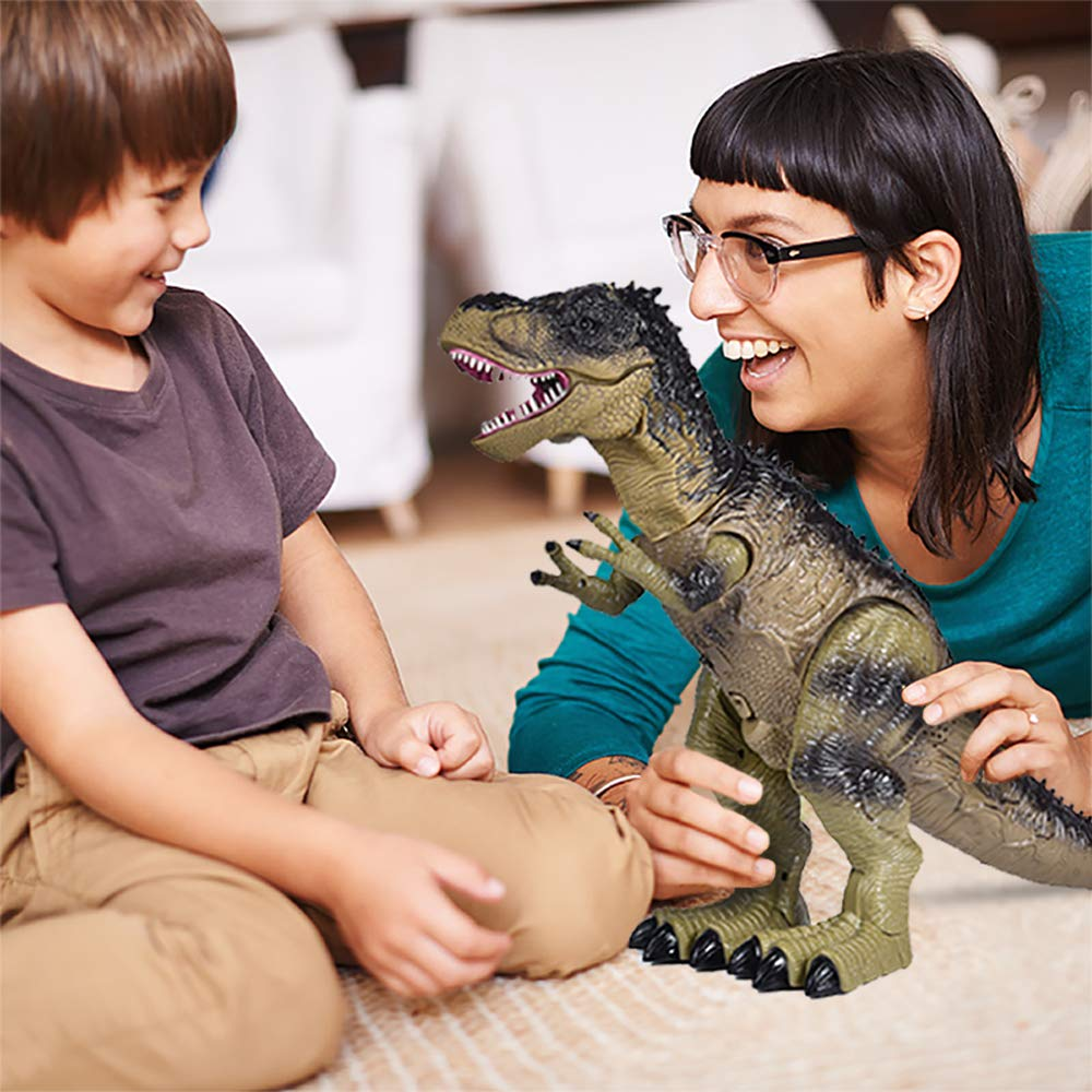 Remote Control Dinosaur for Kids, Electronic Walking & Spray Mist Large Dinosaur Toys with Glowing Eyes, Roaring Dinosaur Sound,18.5'' Realistic T-Rex Toy for Boys by FUN LITTLE TOYS (Image #3)